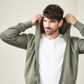 Veste à capuche homme en coton Bio éco-responsable