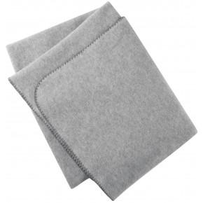Couverture 100 % laine mérinos polaire  gris chiné