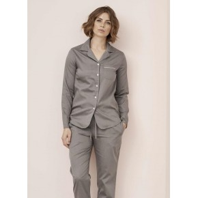 Pyjama femme en satin de coton Bio
