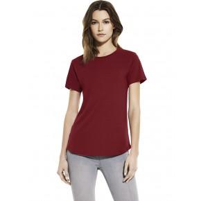 T-shirt femme en viscose EcoVero rouge brique