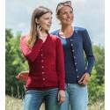Gilet femme en laine mérinos et soie
