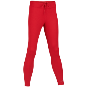 Pantalon de sport femme laine merinos et soie rouge