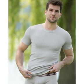 T-shirt homme 100% coton Bio écru naturel