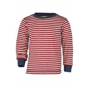 Pull enfant 100% laine vierge rayé rouge