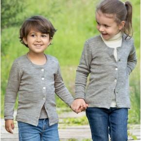 Cardigan enfant laine et soie Engel Natur