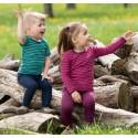 T-shirt rayé enfant laine et soie Engel