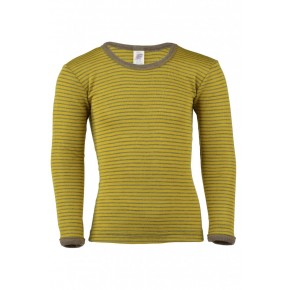 T-shirt enfant laine mérinos et soie safran