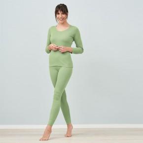 Leggings femme 100% coton biologique vert pistache
