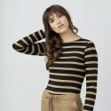 T-shirt femme à manches longues en modal et fibres protéines de soja