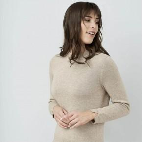 Pull alpaga et coton Biologique beige