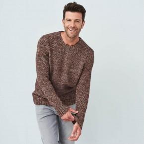 Pull homme épais laine et coton Bio éco-responsable