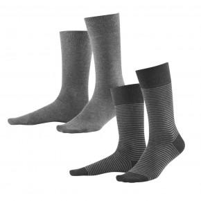 Chaussettes homme en coton Bio, lot de 2 grises