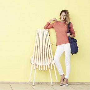 Sweatshirt femme 100 % coton Biologique  corail