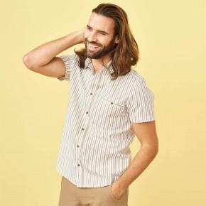 Chemise homme à manches courtes en lin