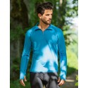 Tee-shirt sport à manches longues noir homme en laine mérinos
