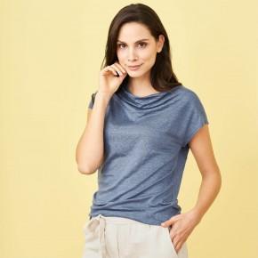 T-shirt femme en lin Bio bleu