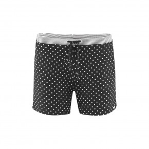 Short de pyjama femme 100 % coton Bio noir