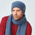 Bonnet  homme 100% laine vierge Bio bleu