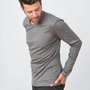 Tee-shirt homme à manches longues 100% coton Bio