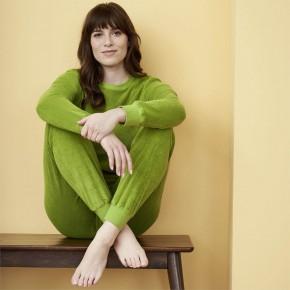 Pyjama femme en éponge de coton biologique vert