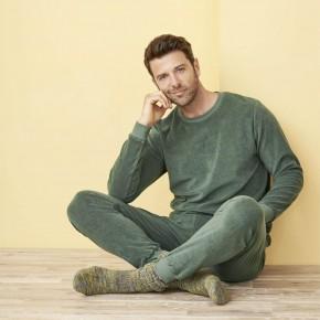 Pyjama homme en éponge de coton Biologique vert