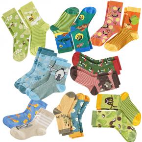 Chaussettes imprimées enfant en coton Bio