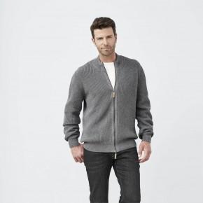 Cardigan homme en coton Biologique  gris