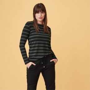 T-shirt femme à manches longues en fibres de soja