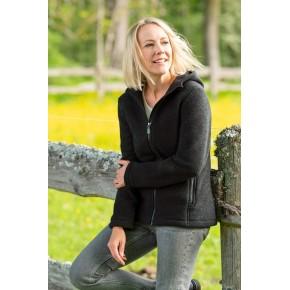 Veste à capuche en laine polaire femme Engel
