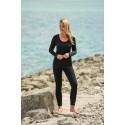 Leggings de sport femme en laine mérinos et soie