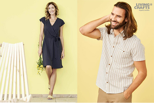 Living Crafts, vêtements slowear écologiques et durables en coton biologique et autres matières naturelles