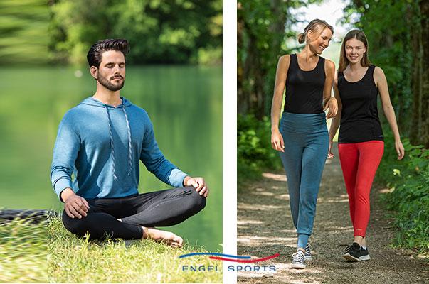 Engel Sports, vêtement naturel, écologique et technique, pour les loisirs, yoga, outdoor et le sport